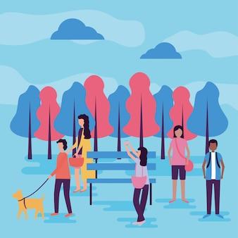 Atividades de pessoas ao ar livre