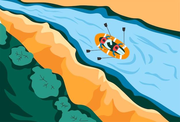 Atividades de verão e férias canoagem e remo