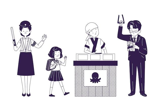 Atividades diárias dos japoneses
