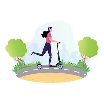 Atividades esportivas com scooter