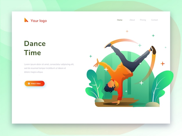 Atividades esportivas de dança para sites