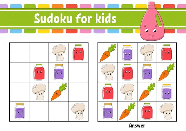 Atividades infantis de sudoku