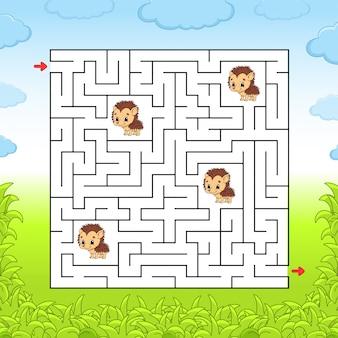 Atividades infantis do labirinto