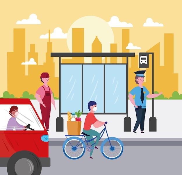 Atividades urbanas de pessoas