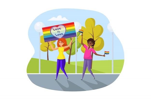 Ativismo, conceito de desfile lgbt.