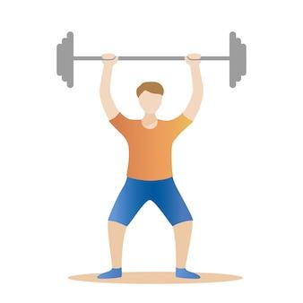 Atleta levantador de peso