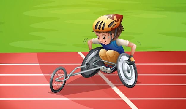 Atletas paraolímpicos no estádio