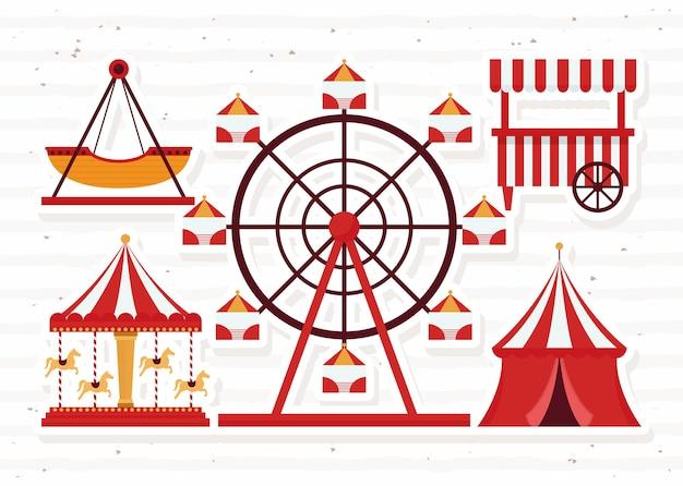 Atrações da feira e barraca