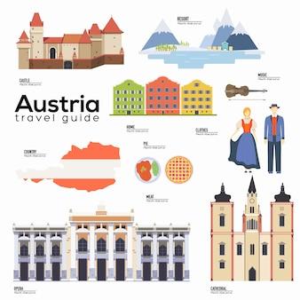 Atrações turísticas e elementos de símbolo cultural para infográfico turístico, web.