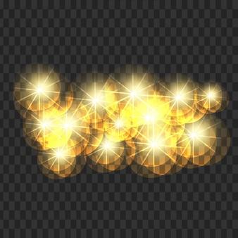 Atraente, luz, sparkles, cobrança, transparente, fundo