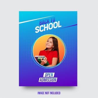 Atraente volta ao folheto da escola