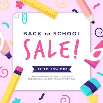 Atraído de volta à promoção de venda da escola