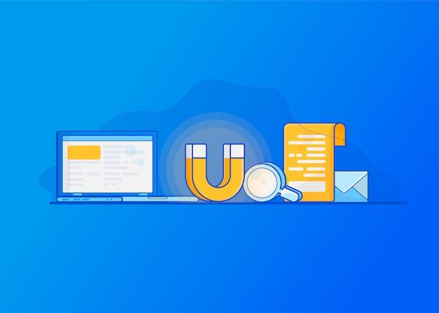 Atrair clientes online. marketing de entrada digital