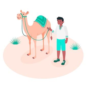 Através do conceito de ilustração do deserto