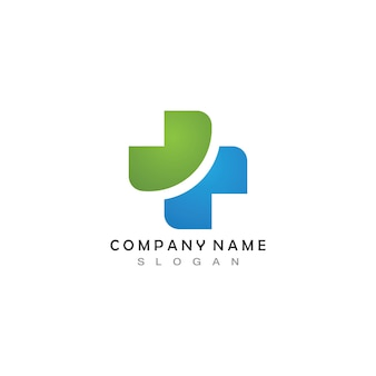 Atravessar o logotipo do hospital médico
