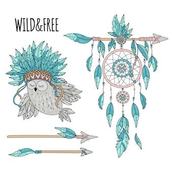 Atributos de heróis nativos americanos da liberdade indiana