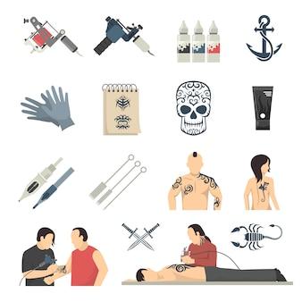 Attoo studio flat icons coleção