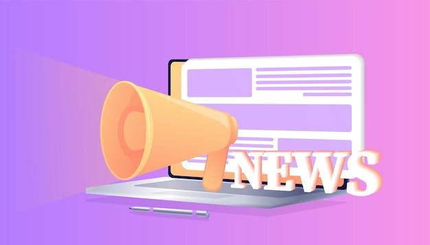 Atualização de notícias notícias on-line informações sobre anúncios de atividades de eventos notícias por e-mail