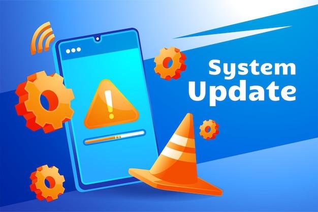 Atualização do sistema, atualizando o sistema operacional do telefone celular