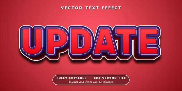 Atualizar efeito de texto, estilo de texto editável