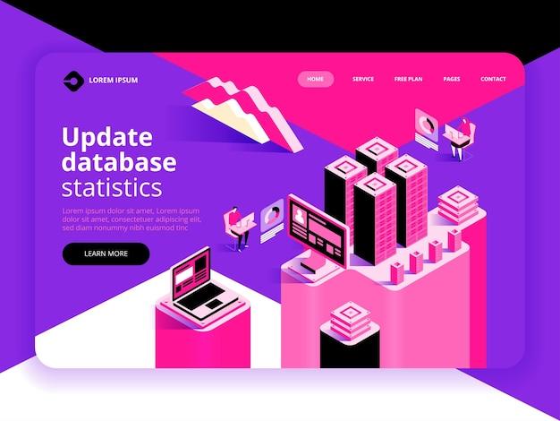 Atualizar página de destino de estatísticas do banco de dados