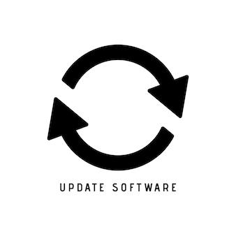 Atualizar vetor de ícone, ilustração vetorial sólida, pictograma isolado no branco