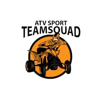 Atv sport, um logotipo de ilustração esporte