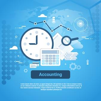 Auditoria de contabilidade negócios web banner com espaço da cópia