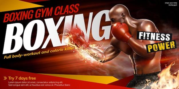 Aula de boxe profissional