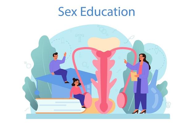 Aula de saúde sexual para jovens