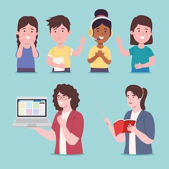 Aula virtual para crianças