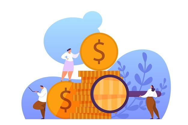 Aumente a receita do conceito de banner da web. ideia de crescimento de capital e investimento financeiro. lucro do negócio. ilustração