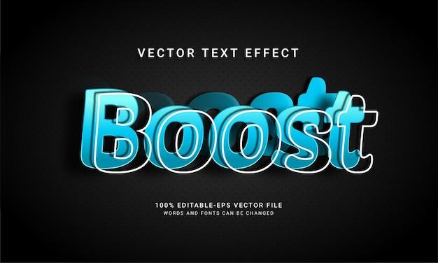 Aumente o efeito de estilo de texto editável em 3d com um conceito moderno