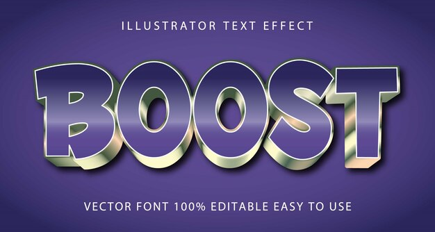 Aumente o efeito de texto editável