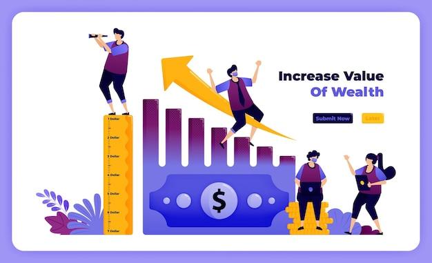 Aumente o valor da riqueza e da propriedade financeira pessoal nos negócios.