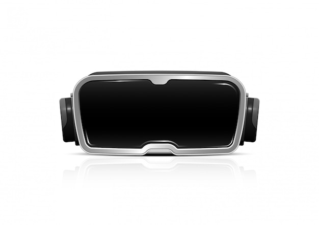 Auricular de óculos de realidade virtual de vetor