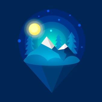 Aurora boreal do ártico