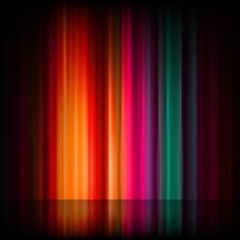 Aurora boreal. resumo colorido.