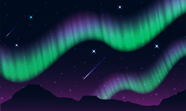 Aurora, luzes polares, luzes do norte ou luzes do sul é um display de luz natural
