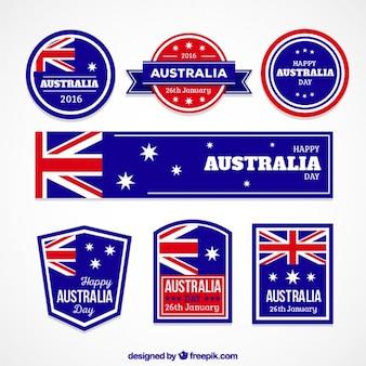 Austrália coleção emblemas dia