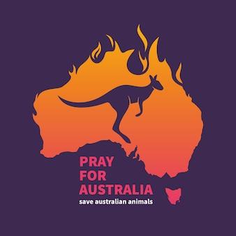 Austrália está pegando fogo ilustração