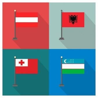 Áustria albânia tonga uzbequistão