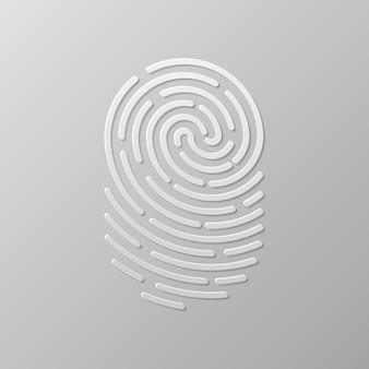 Autenticação de impressão digital de segurança. identidade do dedo, ilustração biométrica de tecnologia. modelo de impressão digital.