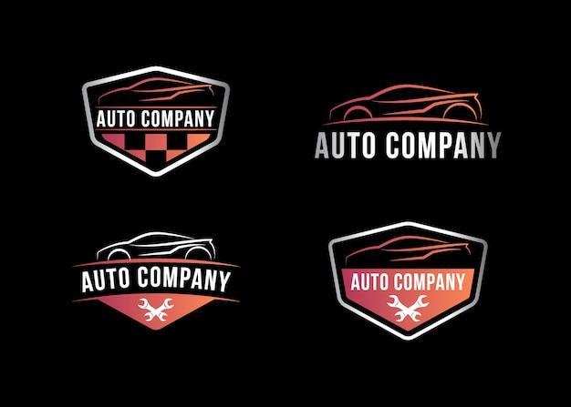 Auto company logo, ilustração vetorial