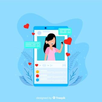 Auto-conceito de foto para mídias sociais