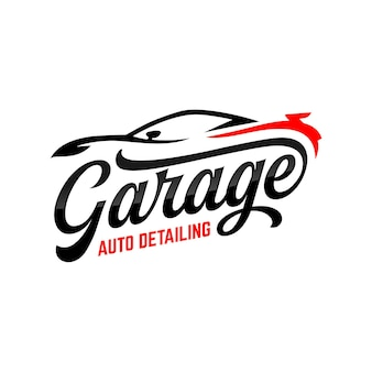 Auto detalhamento logotipo inspiração polidor carro vetor automotivo