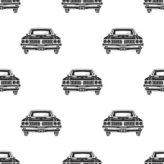 Auto retrô sem emenda. padrão de carros antigos.