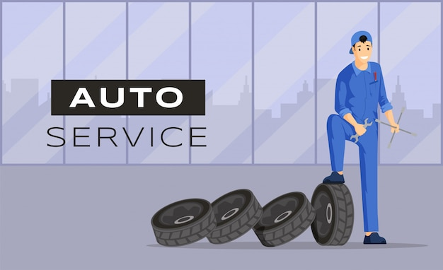 Auto-serviço. reparo de carro.