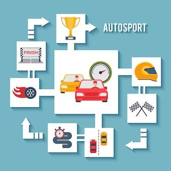 Auto sport concept