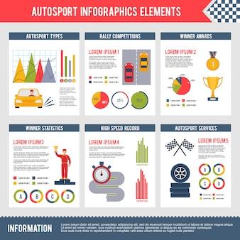 Auto sport infographics